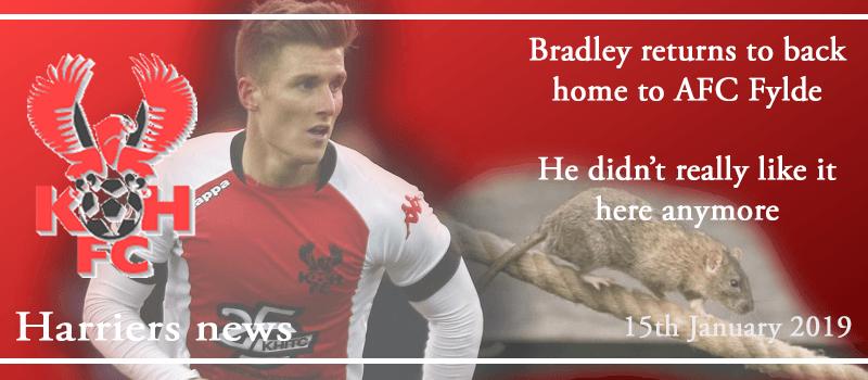 15-01-19 - News - Dan Bradley returns to Fylde