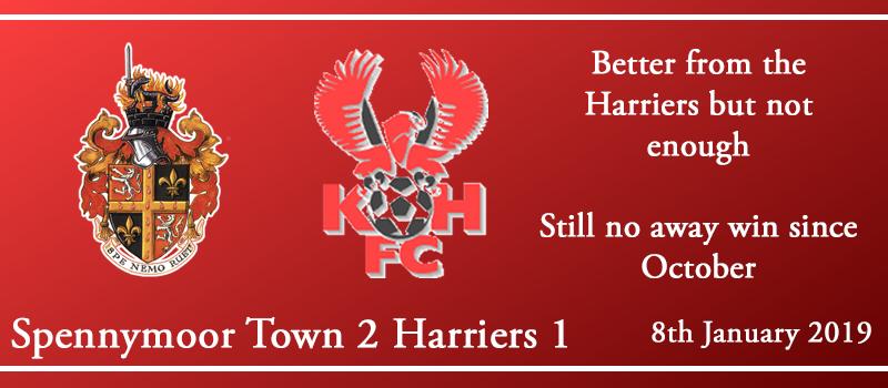 08-01-19 – Report – Spennymoor Town 2 Kidderminster Harriers 1