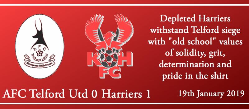 19-01-19 – Report – AFC Telford Utd 0 Kidderminster Harriers 1