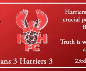 23-02-19 – Report – Blyth Spartans 3 Kidderminster Harriers 3