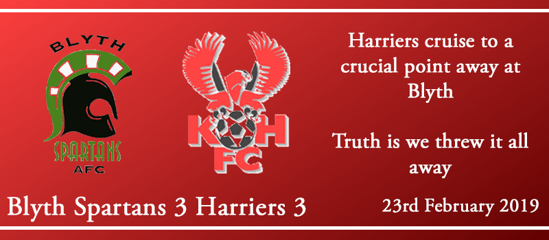 23-02-19 - Report - Blyth Spartans 3 Kidderminster Harriers 3