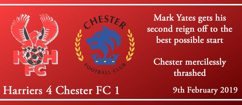 09-02-19 – Report – Kidderminster Harriers 4 Chester FC 1