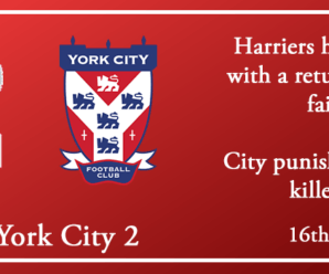 16-02-19 – Report – Kidderminster Harriers 1 York City 2