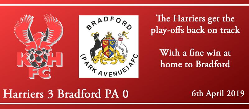 06-04-19 – Report – Kidderminster Harriers 3 Bradford (Park Avenue) AFC 0