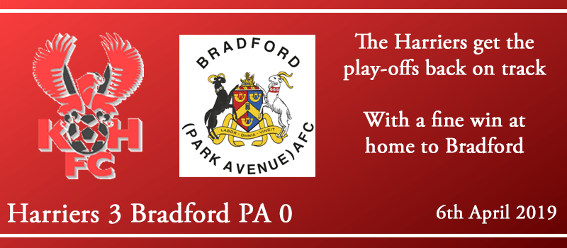 06-04-19 – Report – Kidderminster Harriers 3 Bradford (Park Avenue) AFC 0