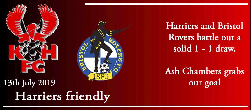 13-07-19 – Friendly – Harriers 1 Bristol Rovers 1
