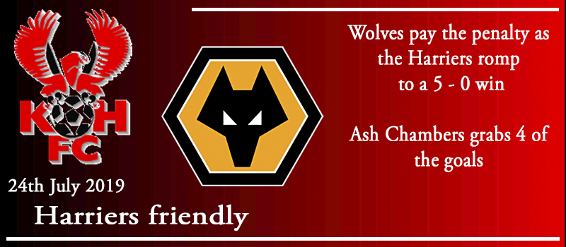 24-07-19 - Friendly - Harriers 5 Wolves 0