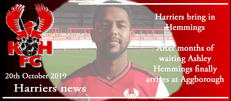 20-10-19 - News - Harriers bring in Hemmings