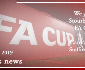 23-09-19 – News – We get bloody Stourbridge in the FA Cup again