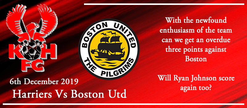 06-12-19 - Preview - Kidderminster Harriers Vs Boston Utd