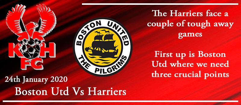 24-01-20 - Preview - Boston Utd Vs Kidderminster Harriers