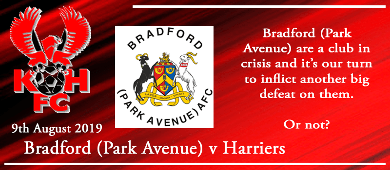 09-08-19 - Preview - Bradford (Park Avenue) AFC Vs Kidderminster Harriers