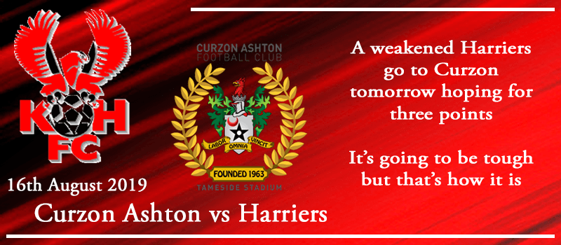 16-08-19 - Preview - Curzon Ashton Vs Kidderminster Harriers