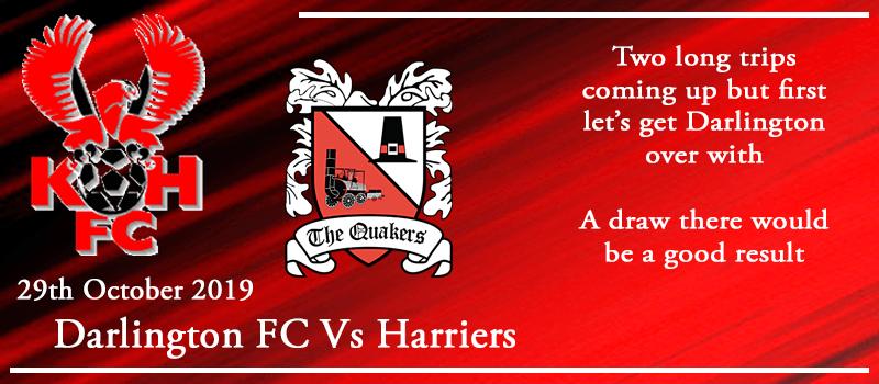 29-10-19 – Preview – Darlington FC Vs Kidderminster Harriers