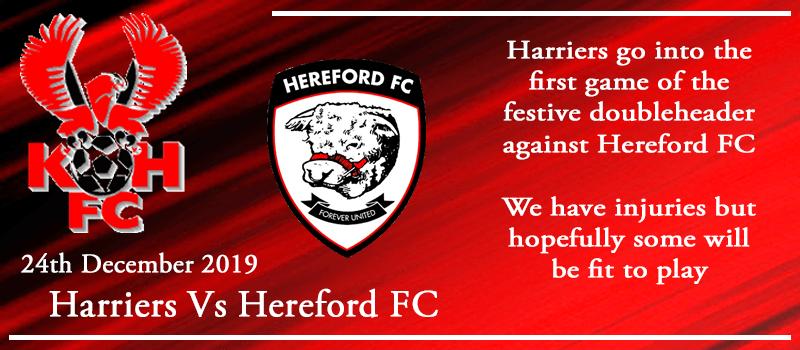 24-12-19 – Preview – Kidderminster Harriers Vs Hereford FC