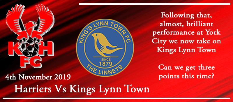 04-11-19 - Preview - Kidderminster Harriers Vs Kings Lynn Town