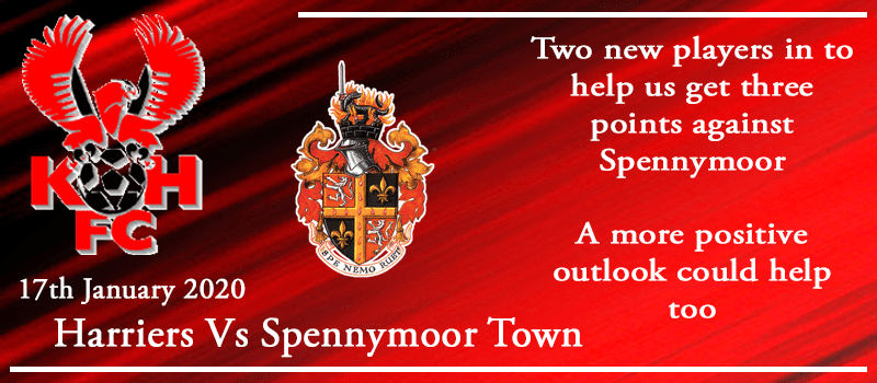 17-01-20 - Preview - Kidderminster Harriers Vs Spennymoor Town