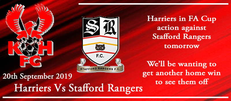 20-09-19 - Preview - FA Cup 2nd Qual Rd - Kidderminster Harriers Vs Stafford Rangers