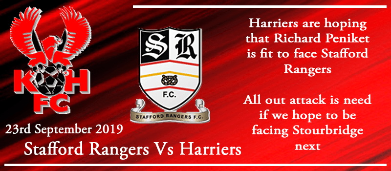 23-09-19 - Preview - FA Cup 2nd Qual Rd replay - Stafford Rangers VS Kidderminster Harriers