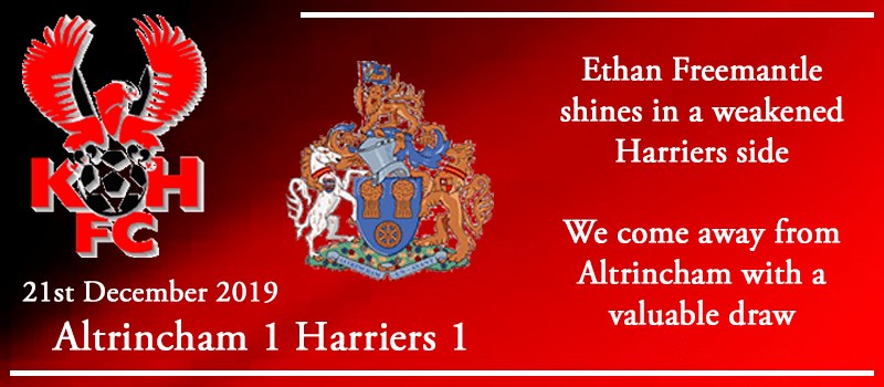 21-12-19 - Report - Altrincham 1 Kidderminster Harriers 1