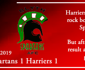 07-09-19 – Report – Blyth Spartans 1 Kidderminster Harriers 1
