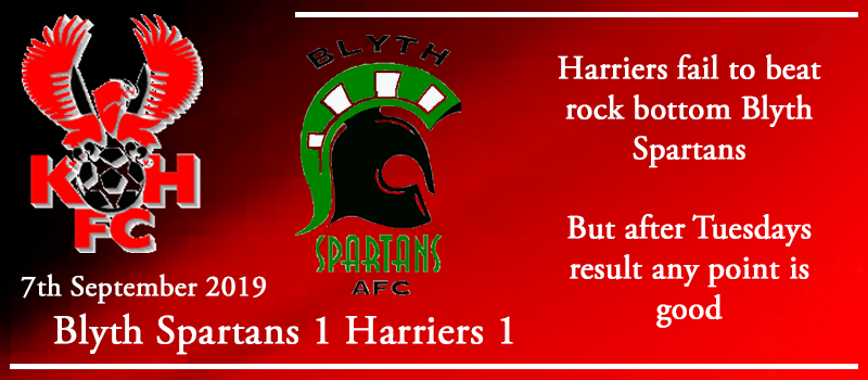 07-09-19 - Report - Blyth Spartans 1 Kidderminster Harriers 1