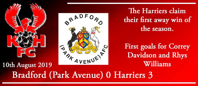 10-08-19 - Report - Bradford (Park Avenue) AFC 0 Kidderminster Harriers 3