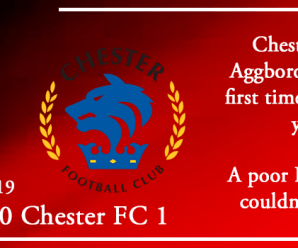 24-08-19 – Report – Kidderminster Harriers 0 Chester FC 1