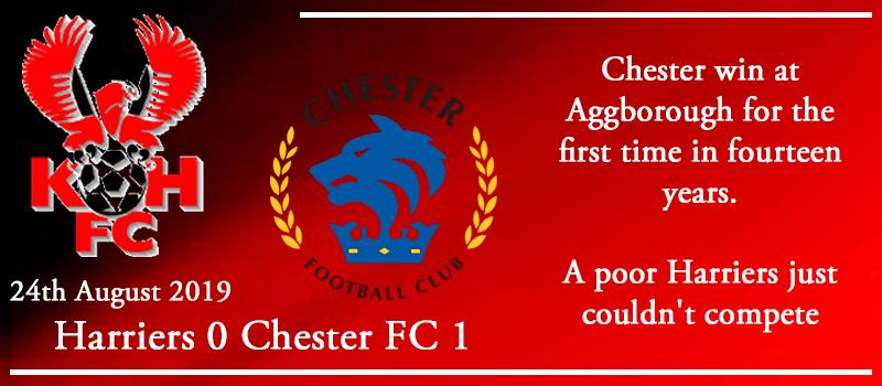 24-08-19 - Report - Kidderminster Harriers 0 Chester FC 1