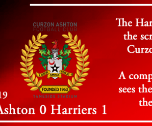 17-08-19 – Report – Curzon Ashton 0 Kidderminster Harriers 1