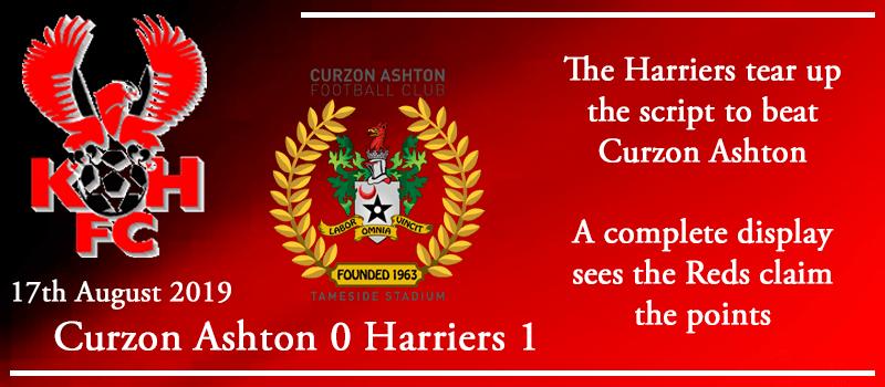 17-08-19 - Report - Curzon Ashton 0 Kidderminster Harriers 1