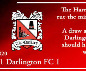 08-02-20 – Report – Kidderminster Harriers 1 Darlington FC 1