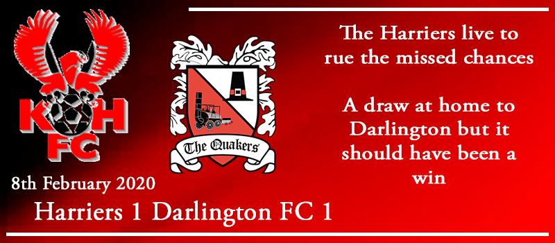 08-02-20 – Report – Kidderminster Harriers 1 Darlington FC 1
