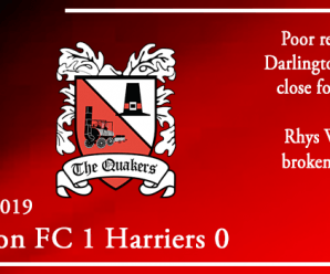 30-10-19 – Report – Darlington FC 1 Kidderminster Harriers 0