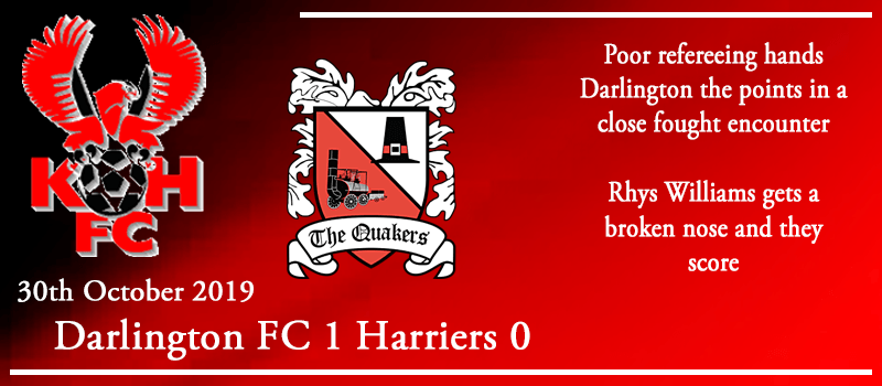 30-10-19 - Report - Darlington FC 1 Kidderminster Harriers 0
