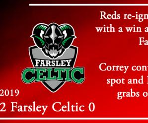 22-10-19 – Report – Kidderminster Harriers 2 Farsley Celtic 0