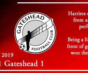 03-12-19 – Report – Kidderminster Harriers 1 Gateshead 1