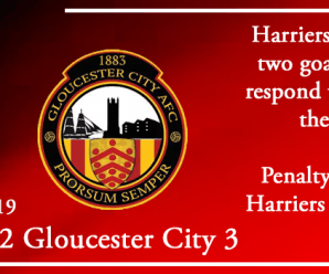 13-08-19 – Report – Kidderminster Harriers 2 Gloucester City 3