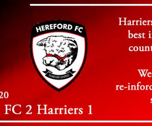 01-01-20 – Report – Hereford FC 2 Kidderminster Harriers 1