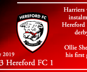 26-12-19 – Report – Kidderminster Harriers 3 Hereford FC 1