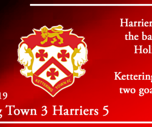 26-08-19 – Report – Kettering Town 3 Kidderminster Harriers 5