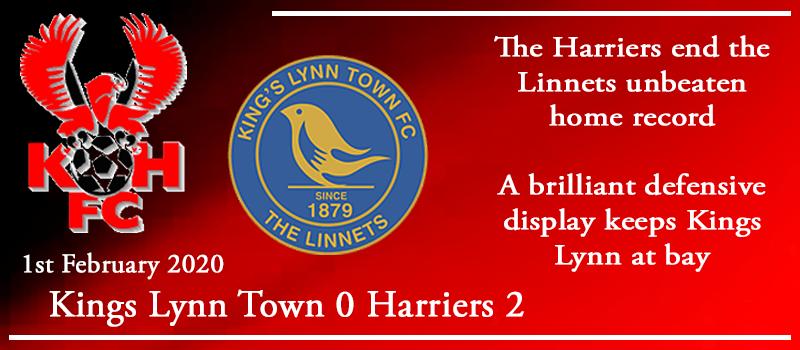 01-02-20 – Report – Kings Lynn Town 0 Kidderminster Harriers 2