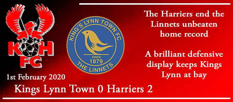 01-02-20 - Report - Kings Lynn Town 0 Kidderminster Harriers 2