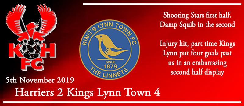 05-11-19 - Report - Kidderminster Harriers 2 Kings Lynn Town 4