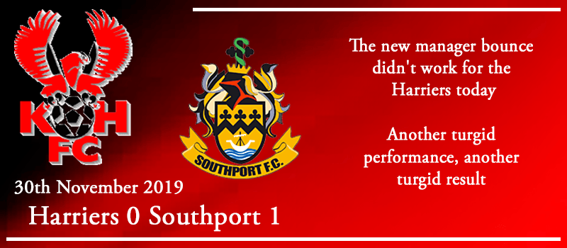 30-11-19 - Report - Kidderminster Harriers 0 Southport 1