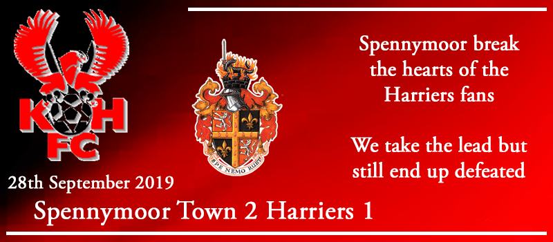 28-09-19 - Report - Spennymoor Town 2 Kidderminster Harriers 1