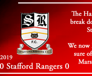 21-09-19 – Report – FA Cup 2nd Qual Rd – Kidderminster Harriers 0 Stafford Rangers 0