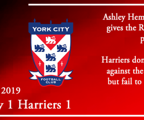 02-11-19 – Report – York City 1 Kidderminster Harriers 1