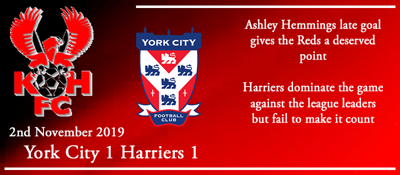 02-11-19 - Report - York City 1 Kidderminster Harriers 1