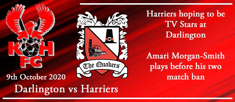 09-10-20 - Preview - Darlington FC Vs Kidderminster Harriers